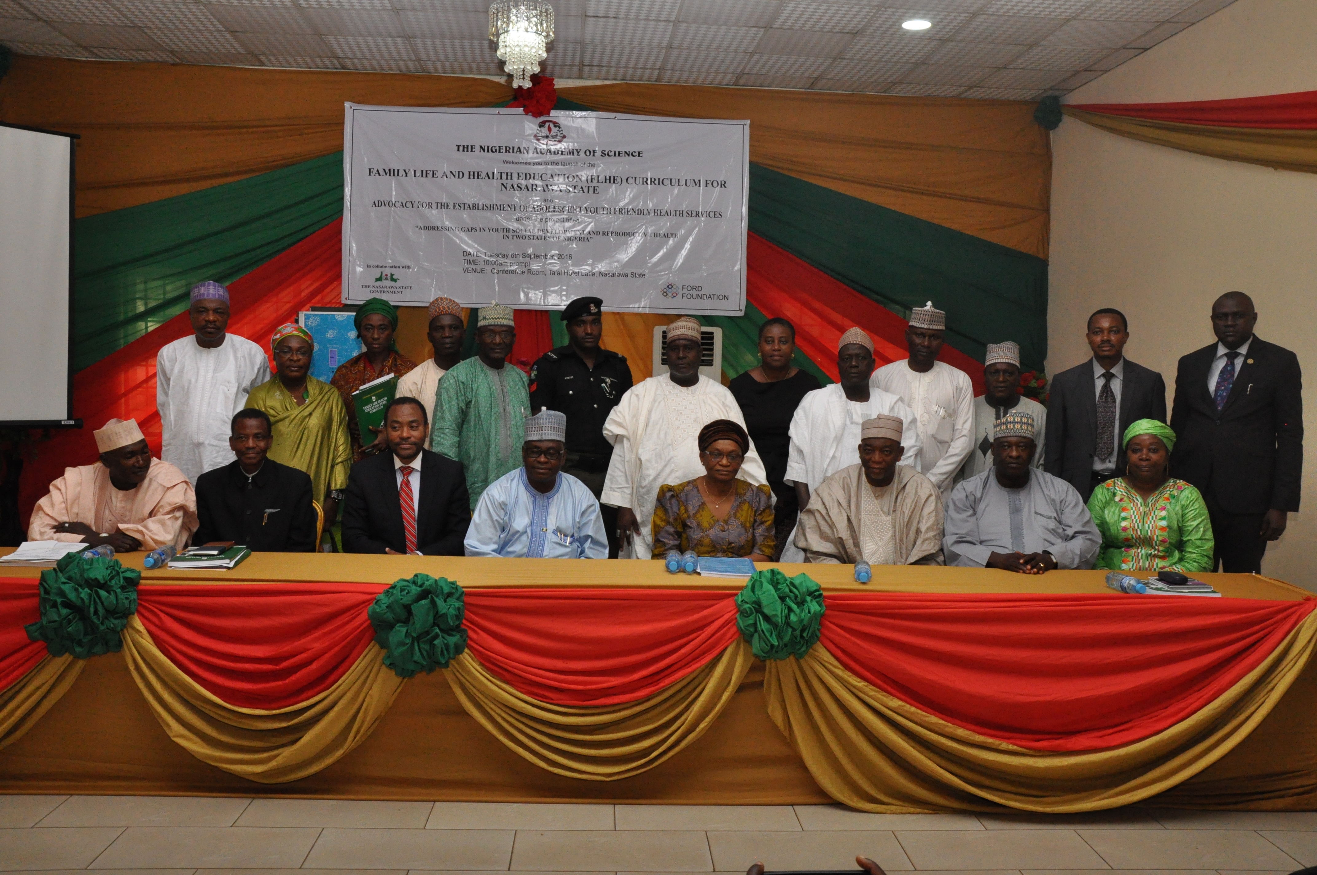 NAS team at FLHE launch in Nasarawa | The Nigerian Academy of Science