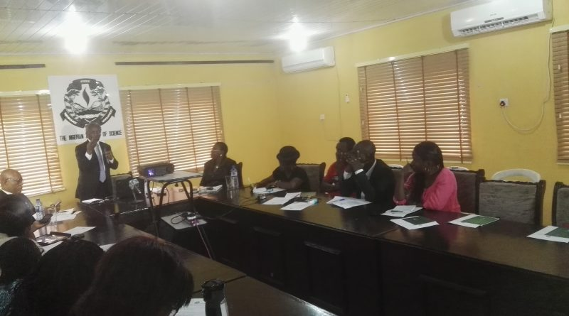 Prof. Tomori addressing journalists at media roundtable